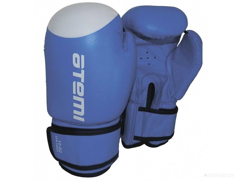 Перчатки для единоборств ATEMI LTB-19009 12oz (Blue/White)