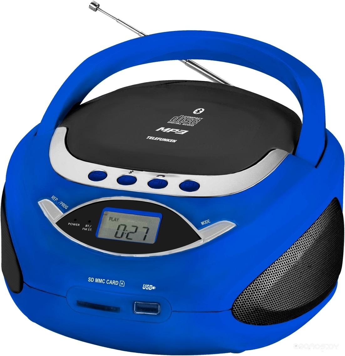 Магнитола Telefunken TF-CSRP3494B (Blue)