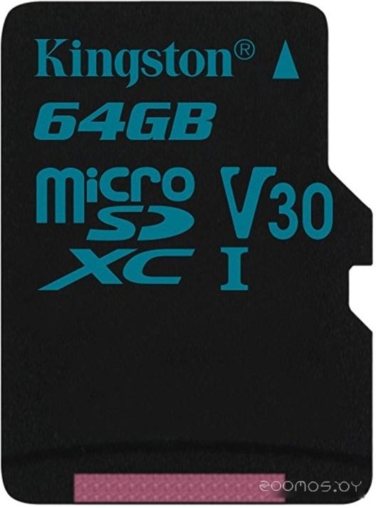 Карта памяти Kingston Canvas Go! SDCG2/64GBSP microSDXC 64GB