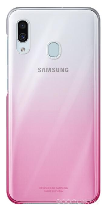 Чехол Samsung Gradation Cover для A30 (Pink)