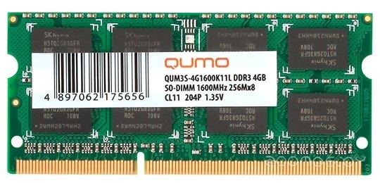 Оперативная память Qumo QUM3S-4G1600K11L