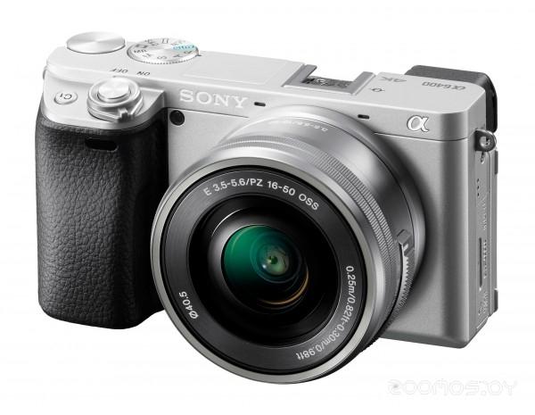 Фотоаппарат Sony Alpha ILCE-6400 Kit 16-55 мм (Silver)