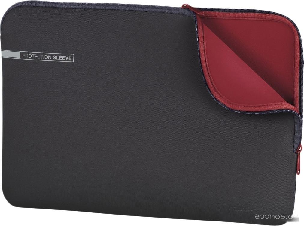 Чехол для ноутбука HAMA Neoprene Sleeve 13.3 (серый/красный)