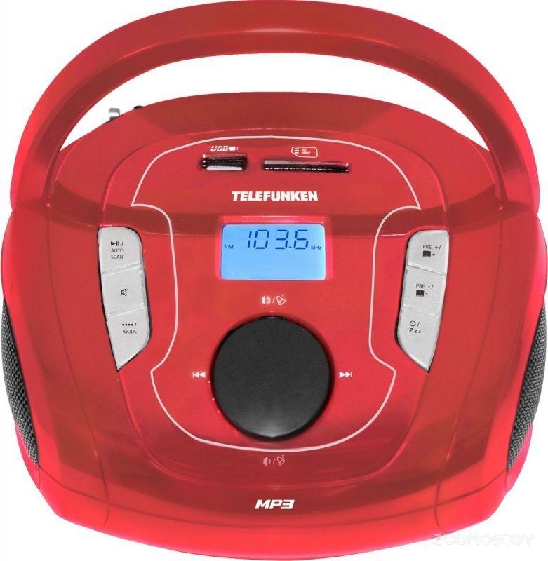 Магнитола Telefunken TF-SRP3471B (Red)