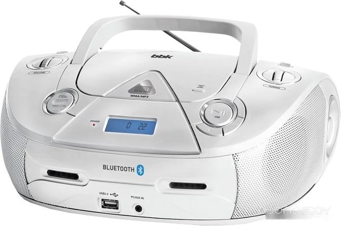 Портативная аудиосистема BBK BX318BT (серебристый)