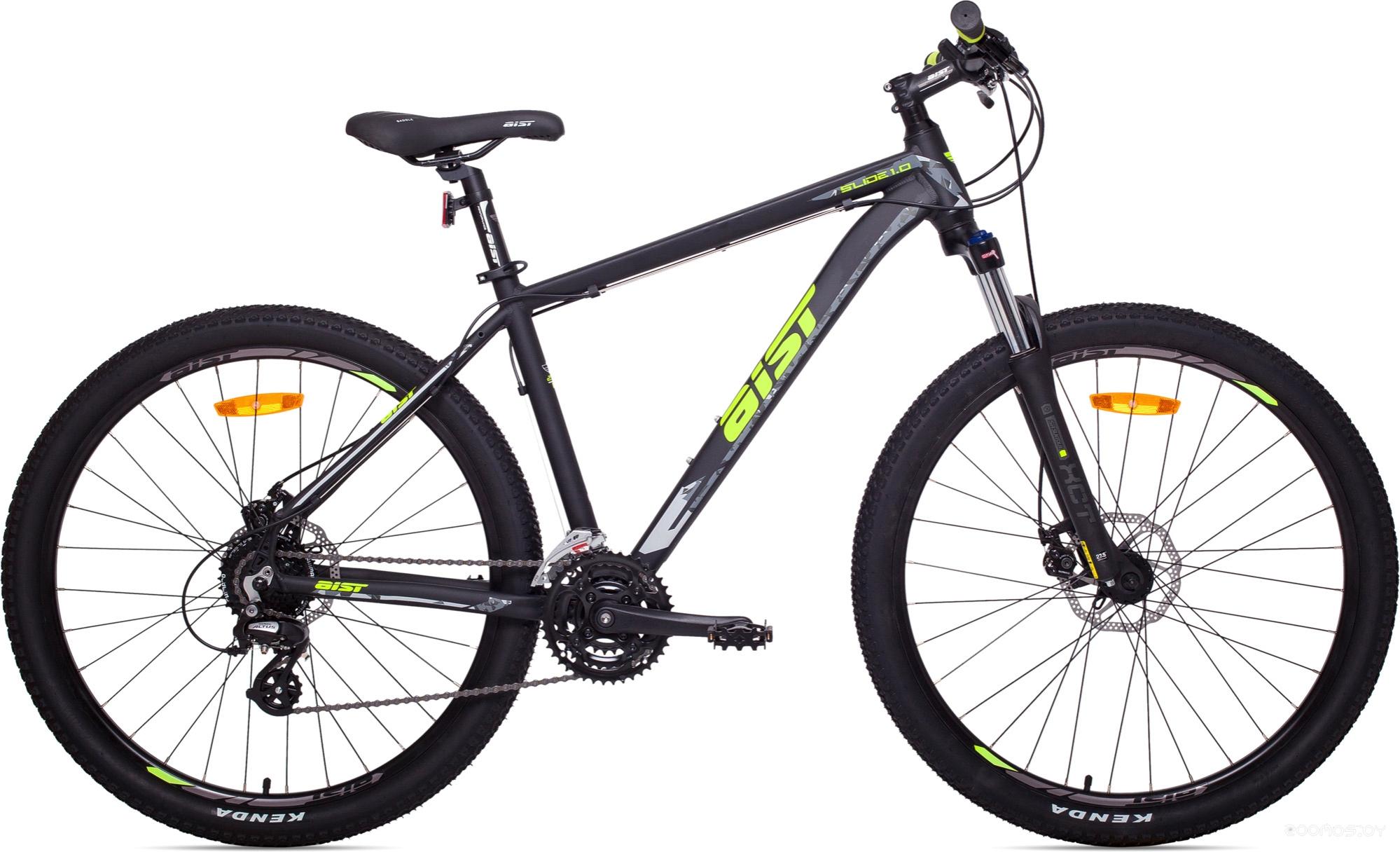 Велосипед Aist Slide 1.0 (Black/Green)