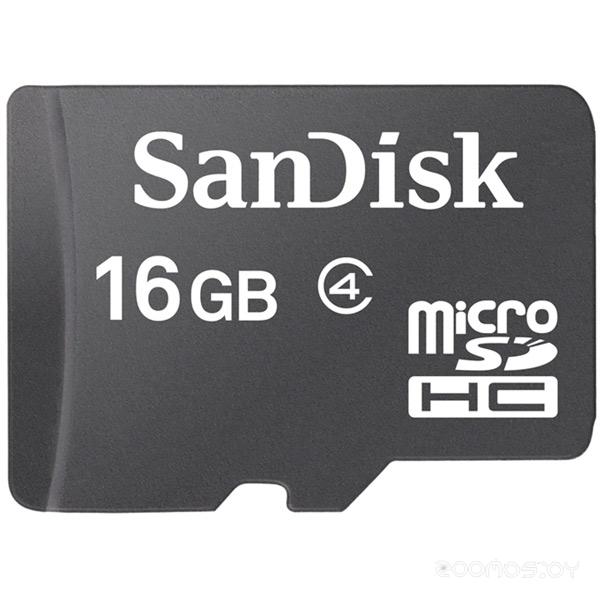 Карта памяти SanDisk microSDHC Card Class 4