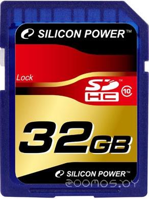 Карта памяти Silicon Power SDHC Card Class 10 32Gb