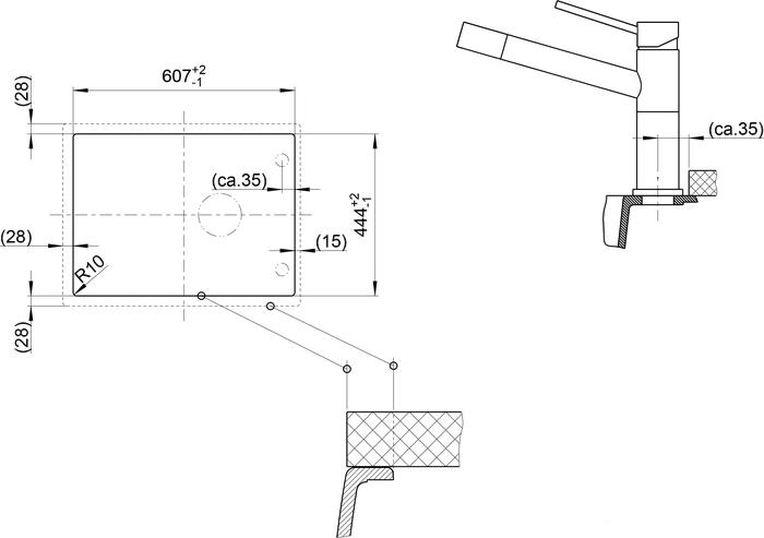 Кухонная мойка Blanco Elon 45 S (Антрацит)