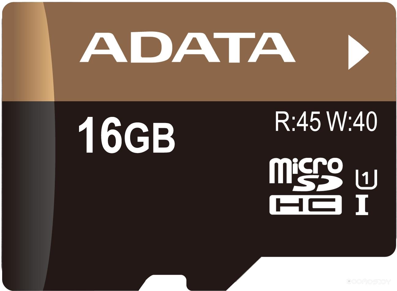 Карта памяти A-Data Premier microSDHC Class 10 UHS-I U1 16GB