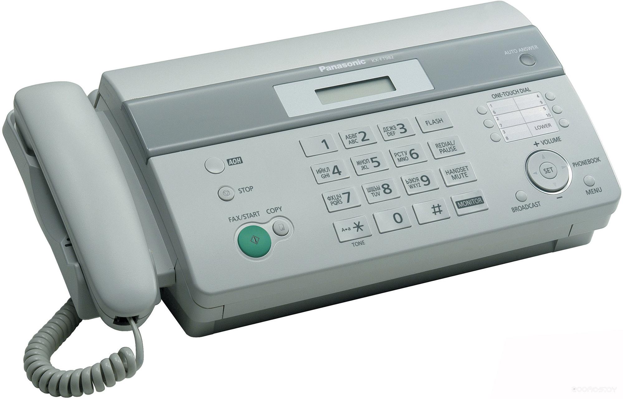 Факс Panasonic KX-FT982RU-W