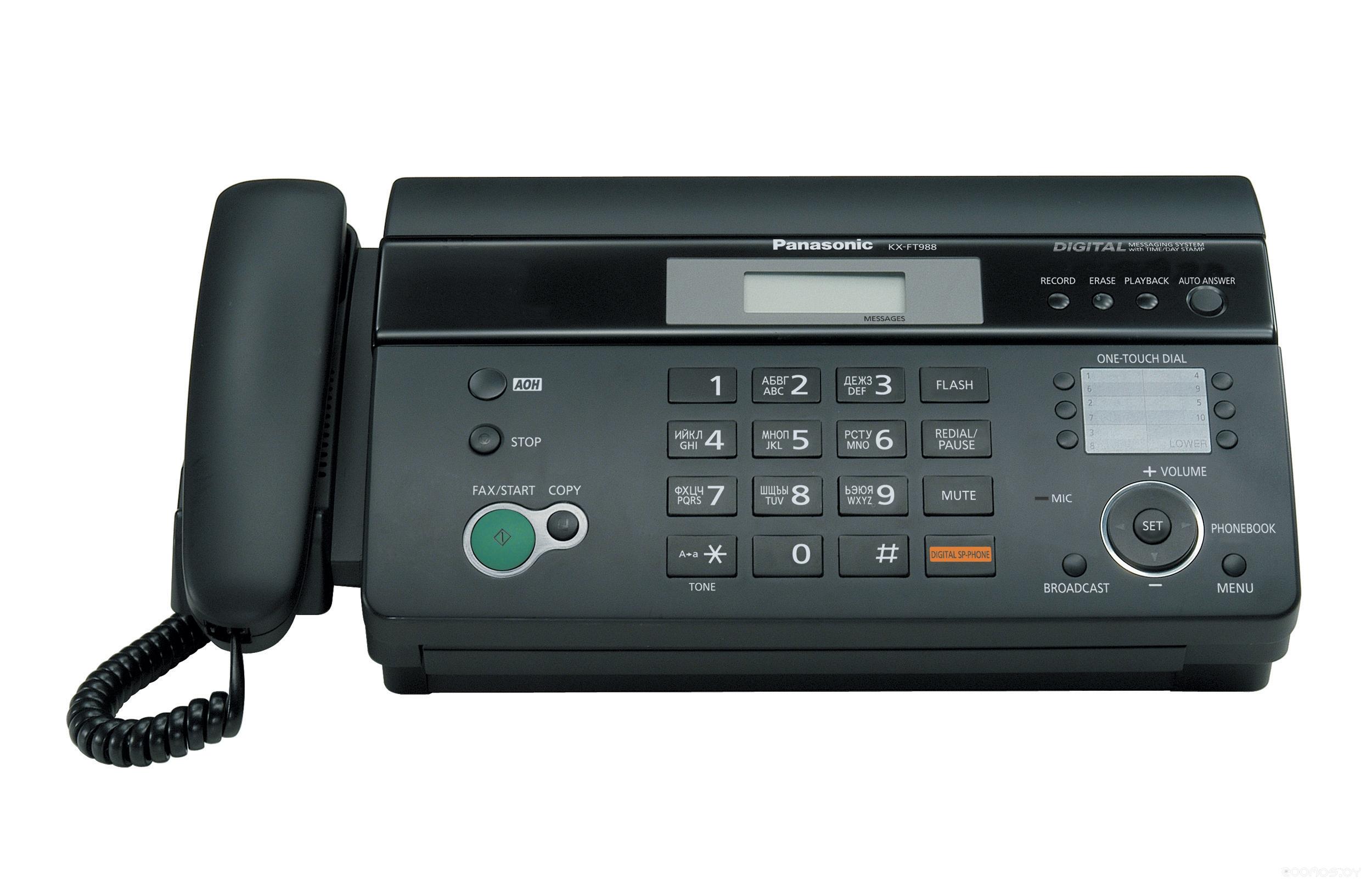 Факс Panasonic KX-FT988RU black
