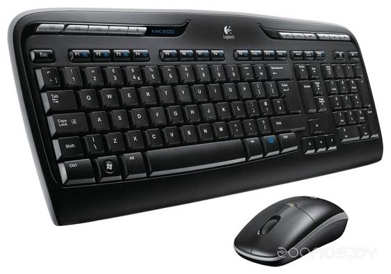 Клавиатура + мышь Logitech Wireless Combo MK330 Black USB