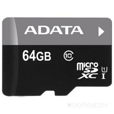 Карта памяти A-Data Premier microSDXC Class 10 UHS-I U1 64GB