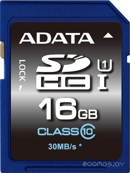 Карта памяти A-Data Premier SDHC Class 10 UHS-I U1 16GB
