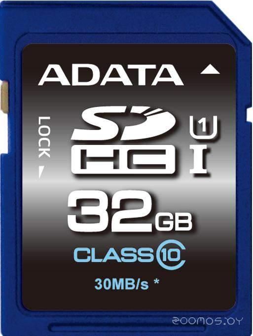 Карта памяти A-Data Premier SDHC UHS-I U1 (Class 10) 32GB