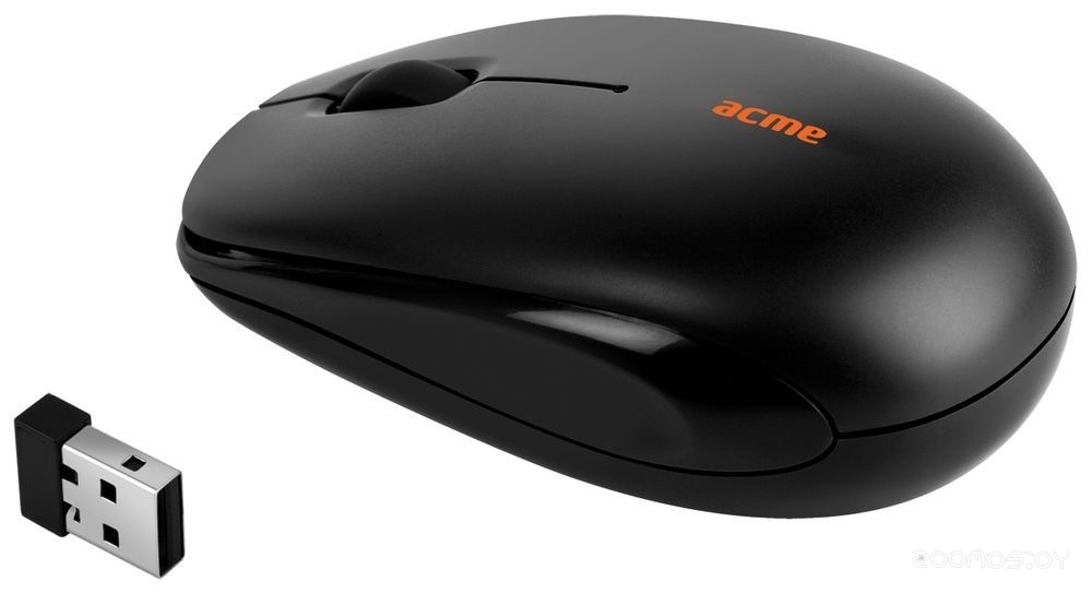 Мышь Acme MW12 Mini wireless optical mouse Black USB