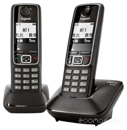 Радиотелефон Gigaset A420 Duo Black