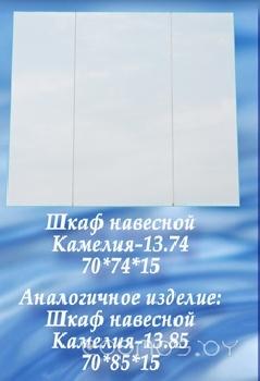 Зеркальный шкаф СанитаМебель Камелия-13.74 белый