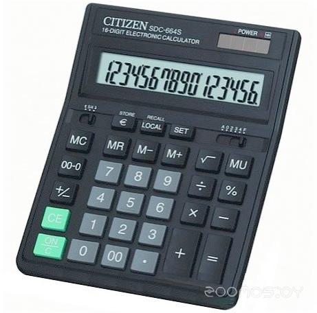 Калькулятор CITIZEN CI-SDC664S