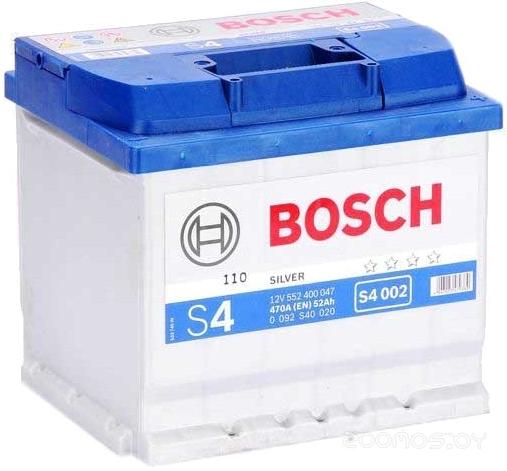 Автомобильный аккумулятор Bosch S4 002 552 400 047 (52 А/ч)