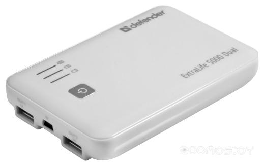 Портативное зарядное устройство Defender ExtraLife 5000 Dual