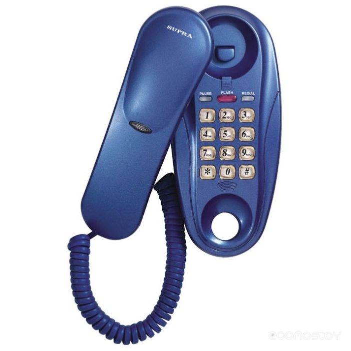 Проводной телефон Supra STL-112 blue