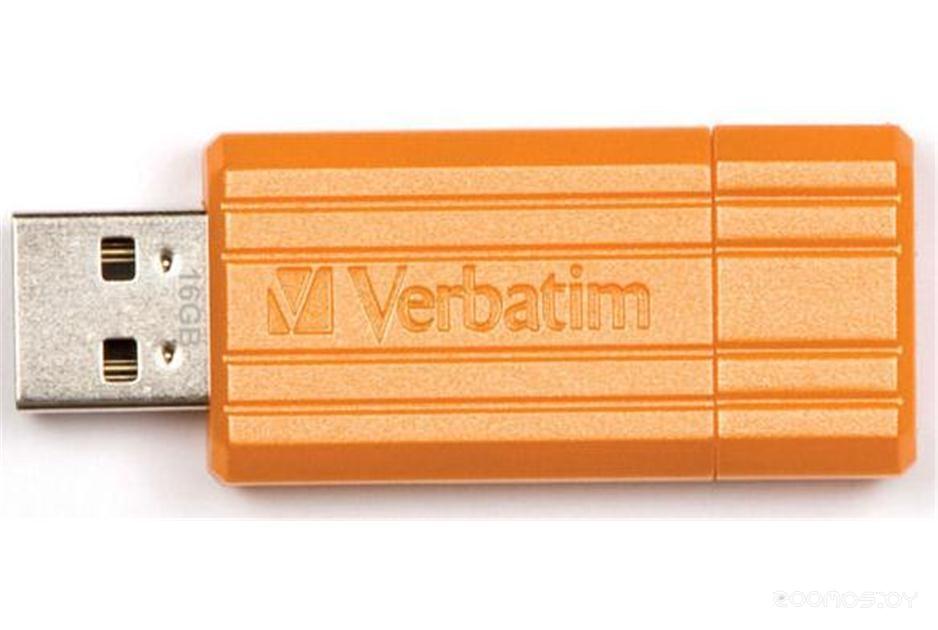 USB Flash VERBATIM Store 'n' Go PinStripe 16GB orange