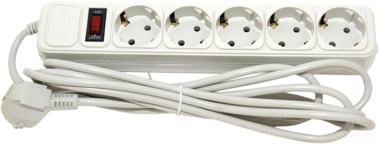 5bites 5 розеток, 5 м, белый (SP5-W-50)
