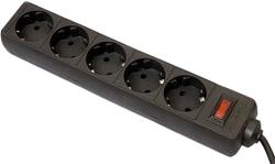 Defender ES 5 розеток, черный, 5 м