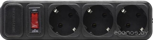 Сетевой фильтр Gembird 3 розетки, черный, 1.8 м (SPGF3-B-6PPB)
