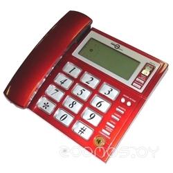 Проводной телефон Аттел 211 красный
