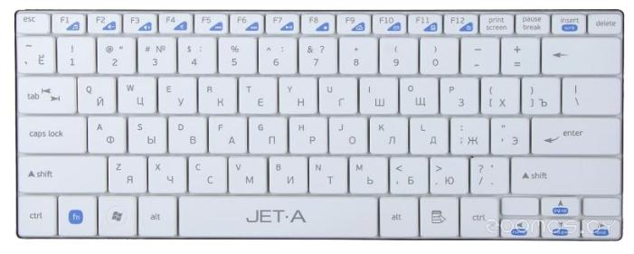 Клавиатура Jet.A SlimLine K7 W White USB