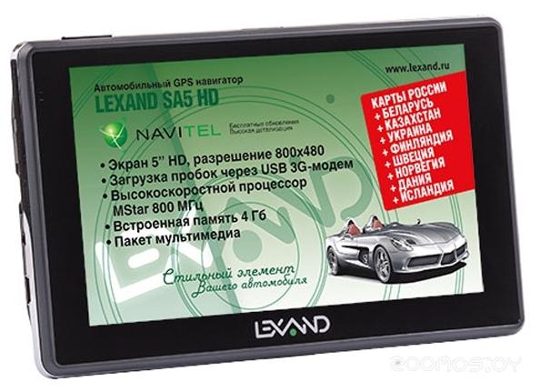 GPS навигатор Lexand SA5 HD