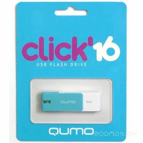 USB Flash Qumo Click (16Gb) Azure