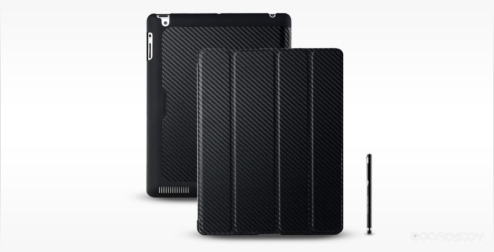 Чехол для планшета Cooler Master iPad Wake Up Folio Carbon Texture Black