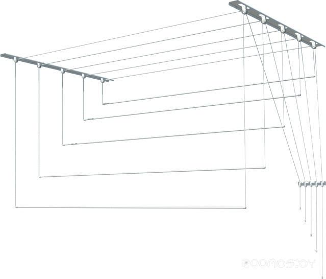 Сушилка для белья Лиана потолочная, металл, 1,8 м (С-006)