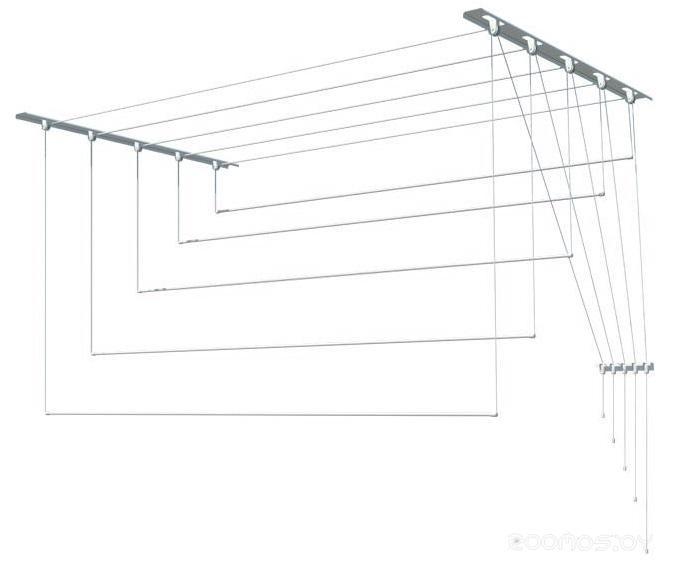Сушилка для белья Лиана потолочная, металл, 1 м (С-013)