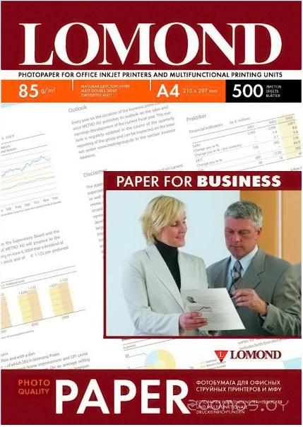 Фотобумага LOMOND Матовая двухсторонняя A4 85 г/кв.м. 500 листов (0102134)