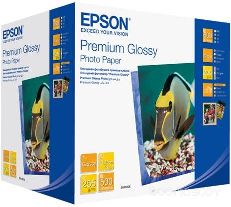 Фотобумага Epson Premium Glossy Photo Paper 10x15 500 листов (C13S041826)