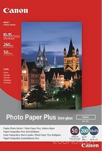 Фотобумага Canon Photo Paper Plus Semi-Gloss SG-201 10x15 50 листов (1686B015)