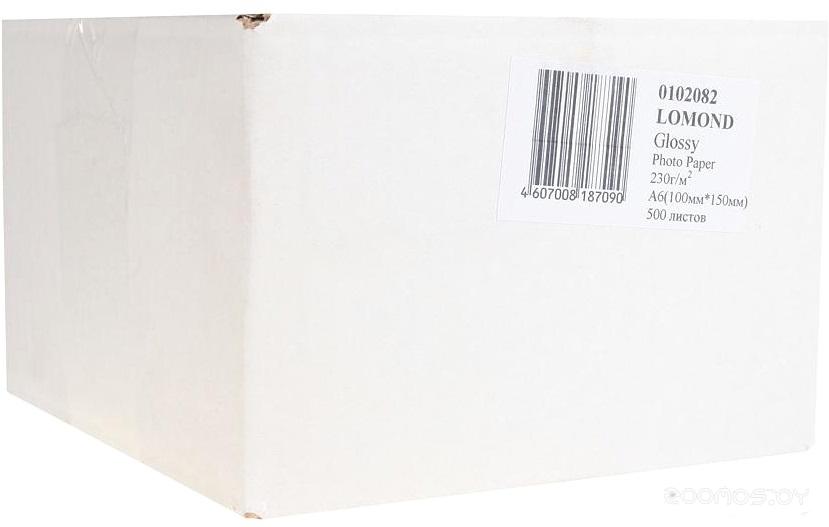 Фотобумага LOMOND Глянцевая 10x15 230 г/кв.м. 500 листов (0102082)