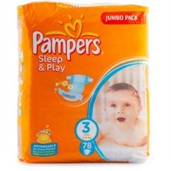 Pampers Sleep&Play 3 Midi Jumbo Pack (78 шт)
