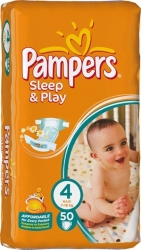 Pampers Sleep&Play 4 Maxi Jumbo Pack (50 шт)