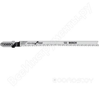 Пилка по дереву для лобзика  Bosch Extra-Clean for Wood T 308 B 117 мм 5 шт.