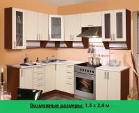 Кухня Артем Мебель Ника МДФ (Техно лён светлый)
