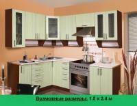 Кухня Артем Мебель Ника МДФ (Техно олива)