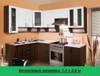 Кухня Артем Мебель Ника МДФ (орех темный)