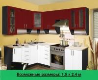 Кухня Артем Мебель Ника МДФ (бордо/белый)