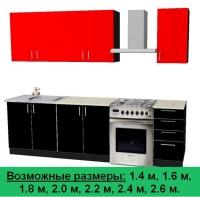 Кухня Артем Мебель Оля ДСП (красный/черный)